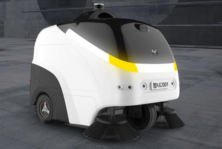 レベル4自動運転技術を搭載した 屋外用の自動掃除ロボット「viggo」