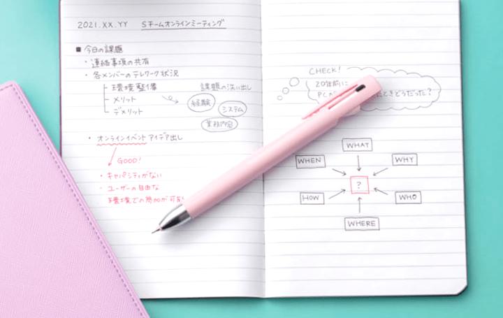 ストレスフリーな書き心地を実現した シャープペンつきの「ブレン2+S」