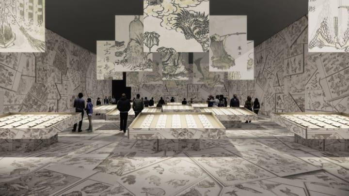 これまでにない北斎づくしの空間が出現 生誕260年記念企画 特別展「北斎づくし」が開催