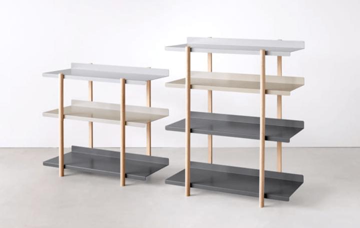 芦沢啓治がデザインを手がけた 機能美を追求するDUENDEの「Marge shelf」