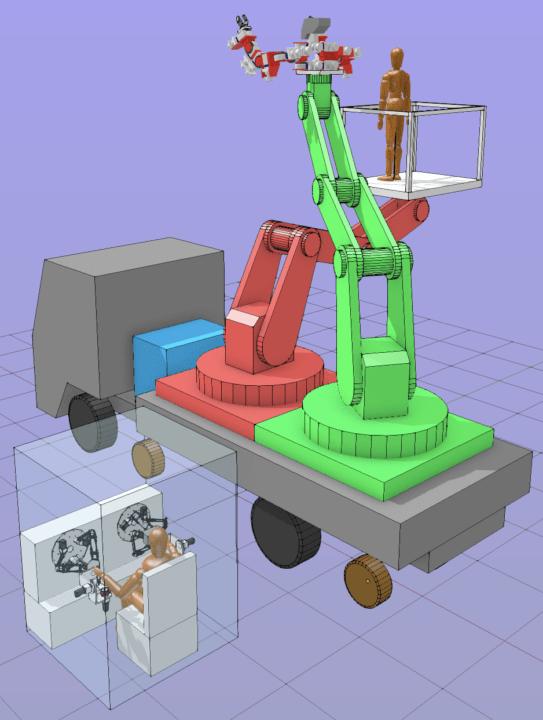 先端ロボット工学技術の社会実装を目指して 人機一体などが高所重作業対応の「空間重作業人機」を開発へ