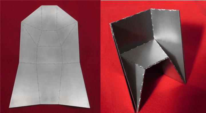折紙工学の知見と金属加工技術を活用して  新しい板金加工プロダクトが開発へ