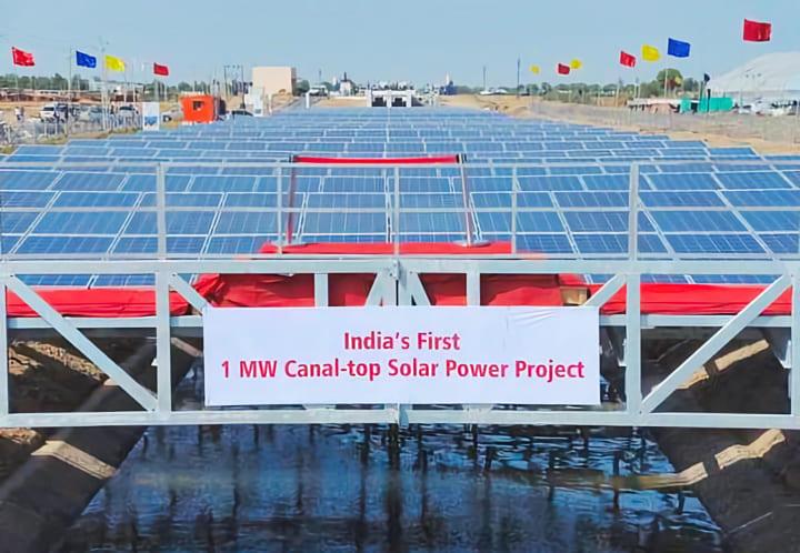 SDGs的メリットに満ちた インドの壮大なソーラーカナル