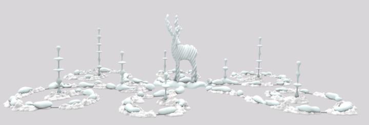 彫刻家・名和晃平によるインスタレーション 「Metamorphosis Garden」がGINZA SIXで展示