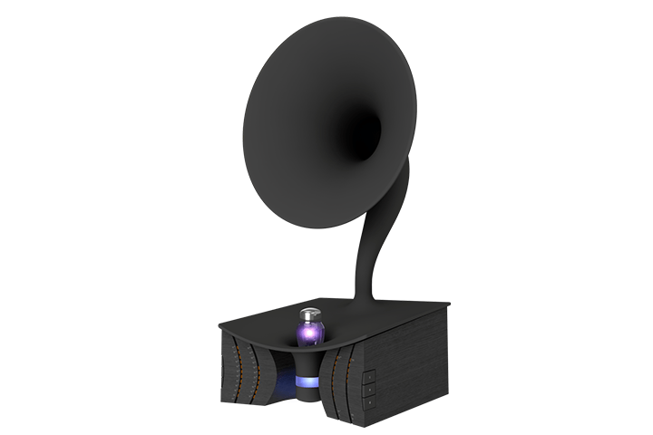 Useless Prototyping Studioが考案 未来の情報ストレージデバイス 「Black Hole Recorder」