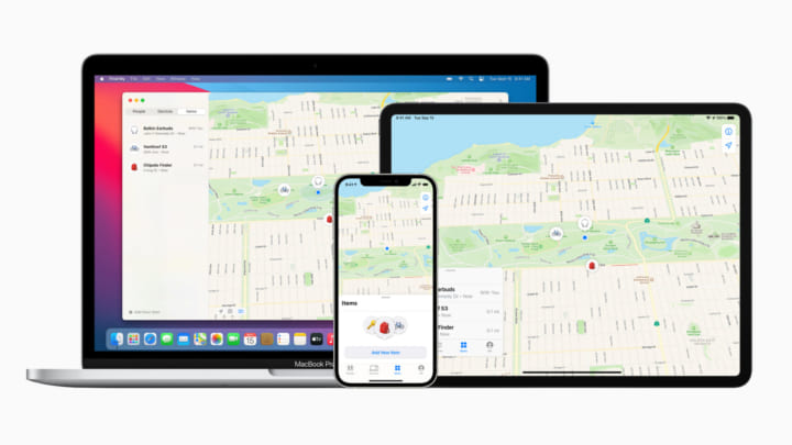 Apple、「探す」アプリケーションで 他社のアイテムを見つけるサービスを提供