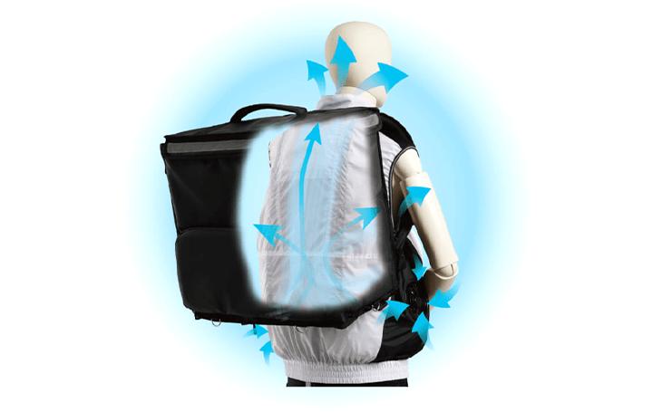 デリバリーサービス配達員向け空調服™ サンユニフォームによる「KaZeoi」