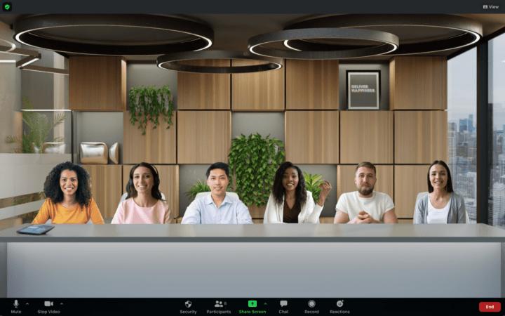 最大25人まで同一バーチャル背景上に同席できる Zoomの新機能「Immersive View」