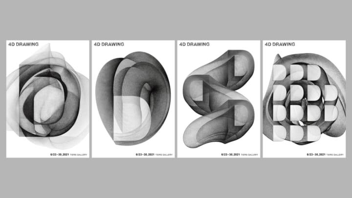 4次元からリアルへの新たな表現域に挑む TIERS GALLERYで展示「4D DRAWING」開催