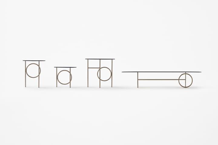 インテリアブランド Minottiに nendoが手がけたテーブルコレクション「Ring」が登場
