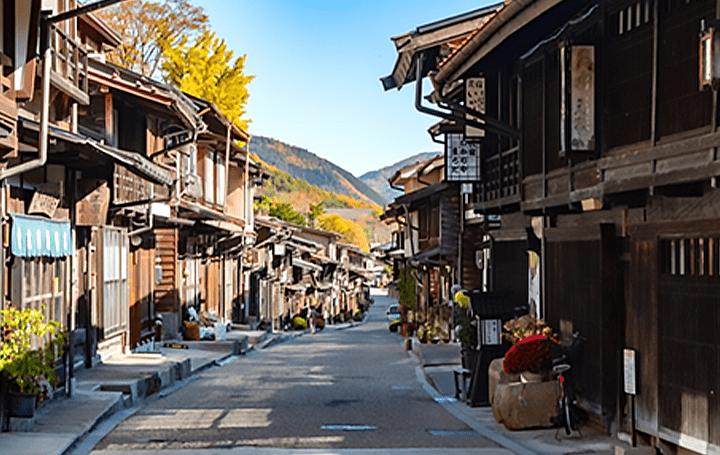 400年の歴史を誇る中山道・奈良井宿にて 古民家を改修した複合施設が建設