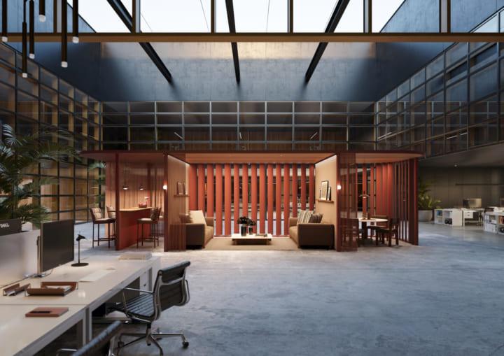 変化するオフィス向けの モジュール式ワークスぺース「Pavilion O」