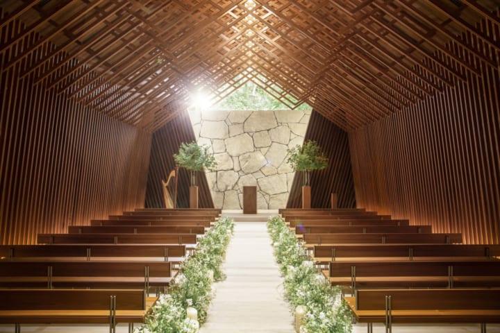香取建築デザイン事務所がデザインした ウェスティン都ホテル京都「チャペル グレース」