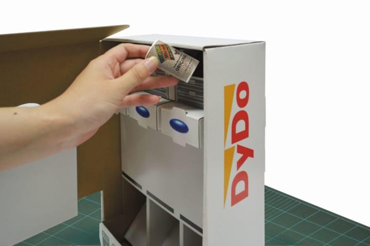 子どもたちが自由な発想で自動販売機を作る 「ペーパークラフト自動販売機キット」