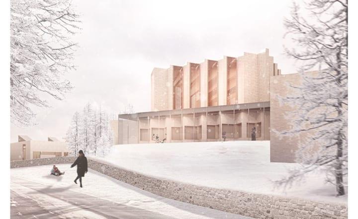 ヘニング・ラーセンがデンマークで手がける  新しい多目的教会建築