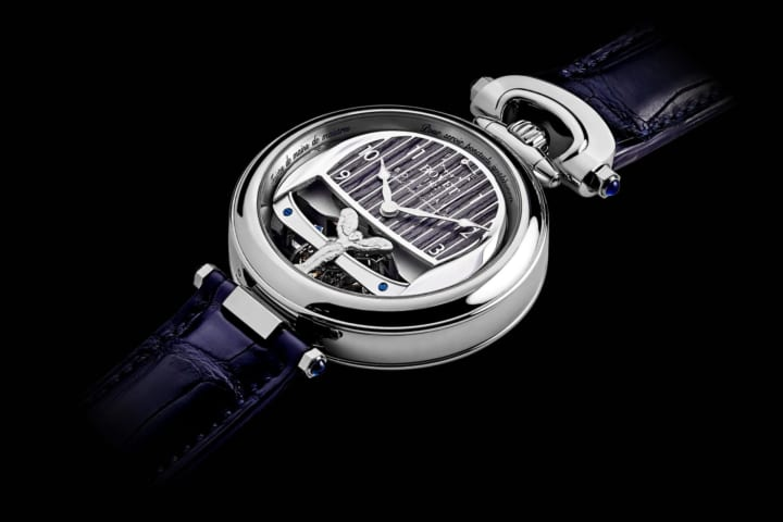 高級時計ブランド「ボヴェ」とコラボした ロールス・ロイスタイムピース「Boat Tail」