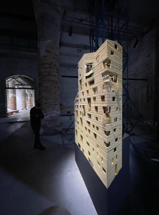 レバノンの建築家 リナ・ゴットメによる 建築のインスタレーション「Lina Ghotmeh — Architecture」