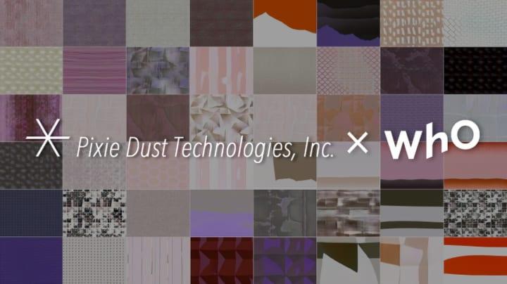 デザイン生成技術「DeepWear™」を活用して 新たな壁紙のデザインが自動生成される