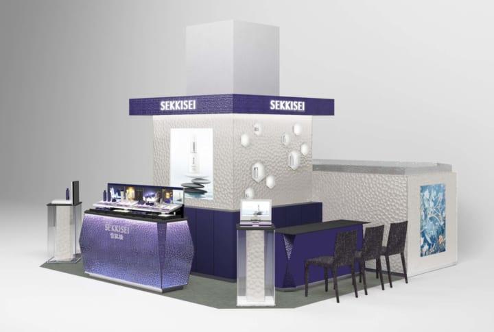 隈研吾がブランドの世界観を具現化した 「雪肌精グローバルカウンター」が内装意匠に登録
