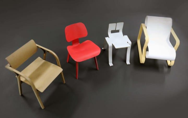アルヴァ・アアルトの椅子を作るオンラインワークショップ 「おやこでミニチュアチェアをつくろう!」