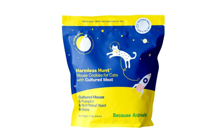 ネズミの培養肉を用いたキャットフード 「Harmless Hunt™ Mouse Cookies for Cats」