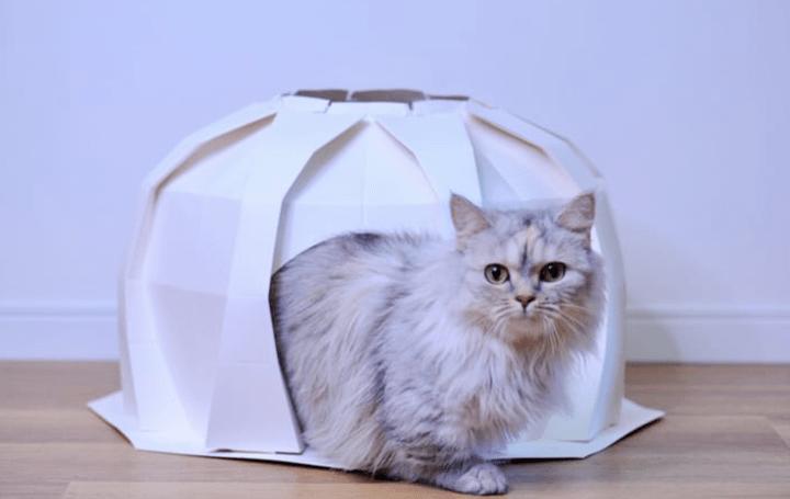 美しい折り紙の構造を活かした 「折り紙ペットハウス」