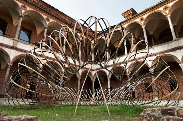 OPPOが隈研吾が共同で設計した インスタレーション「Bamboo (竹) Ring」