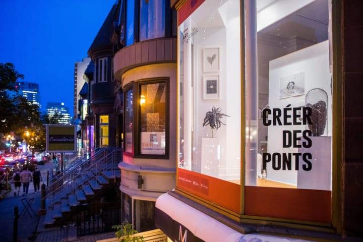 空き店舗を減らす新たな取り組み モントリオールの展示スペース「CRÉER DES PONTS」