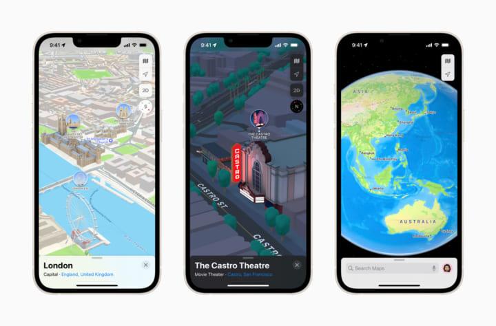 Apple「マップ」アプリに新機能 米などの主要都市の3Dマップを導入