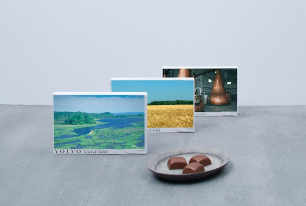 北海道の厚岸蒸溜所と共同で開発した ロッテのD2Cチョコレート「YOIYO」