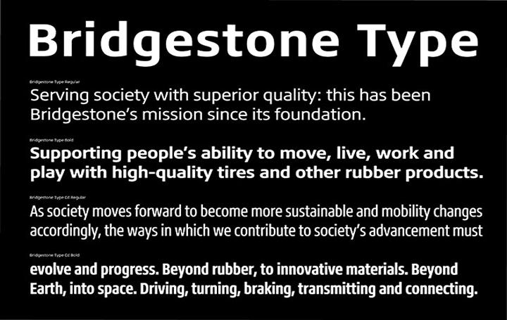 ブリヂストンとMonotypeによる コーポレートフォント「Bridgestone Type」登場