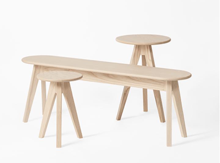 森の木々を連想させるミニマルな デザインのインテリア「MITSUKI」